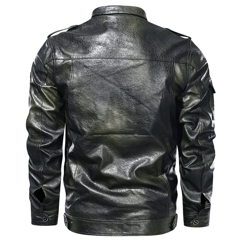 genuine sheep leather fashion jacket for men 2021