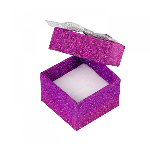 Colorful glitter paper gift boxes lid and bottom white foam insert for jewellery packaging,earings package ,bracelets packing