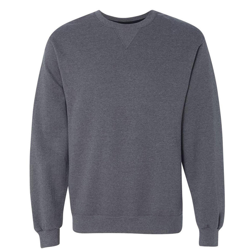 OEM wholesale custom men's fleece crew neck reverse weave pullover sweatshirts