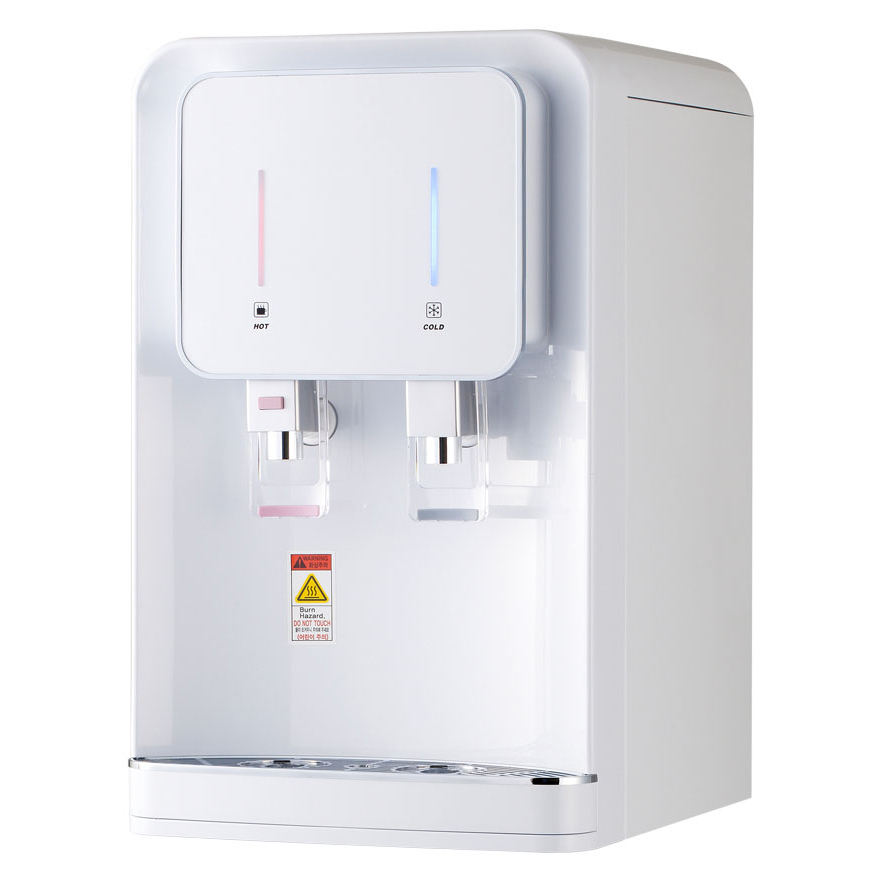 Moolmang HotとCold Water Dispenser UF 4ステージFilter System Desktop Counter Top Water Purifier White Color
