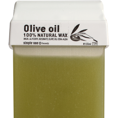 Roll-on Olive Oil 100% Natural wax cartridge for hair removal 100ml