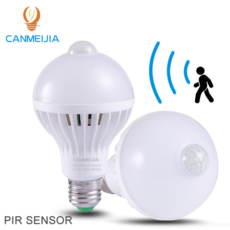 E27 LED Light bulb with Motion Sensor Lamp 3W 5W 7W 9W Smart LED Bulbs 220V Bombillas Ampoule Led for Home Porch Hallway