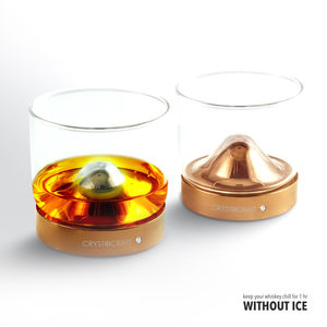 Crystocraft Rose Gold Rvs Whiskey Chilling Cooling Zonder Ijs Verdunning Bar Accessoires Luxe Corporate Gift