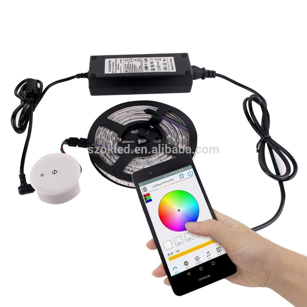 IOS <span class=keywords><strong>iPhone</strong></span> iPad Dikendalikan RGB/RGBW Lampu LED Strip Kit