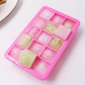 Custom Hot Selling Food Grade 15 Cavity Silicone Ice Cube Tray Mold Met Deksels
