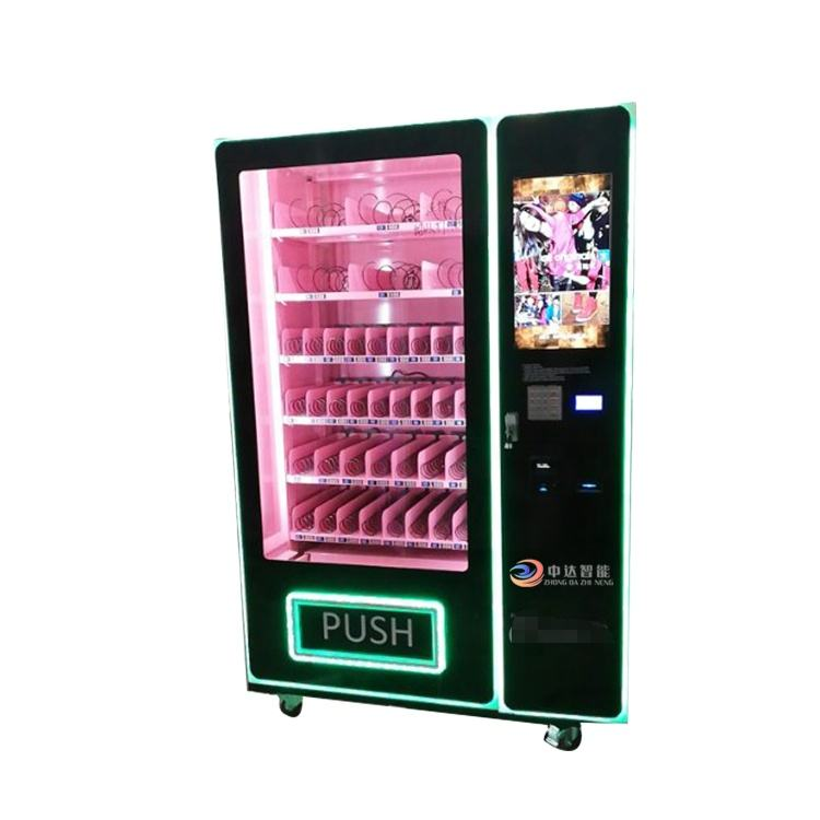 Top sales eye lashes cosmetic vending machine with advertising screen