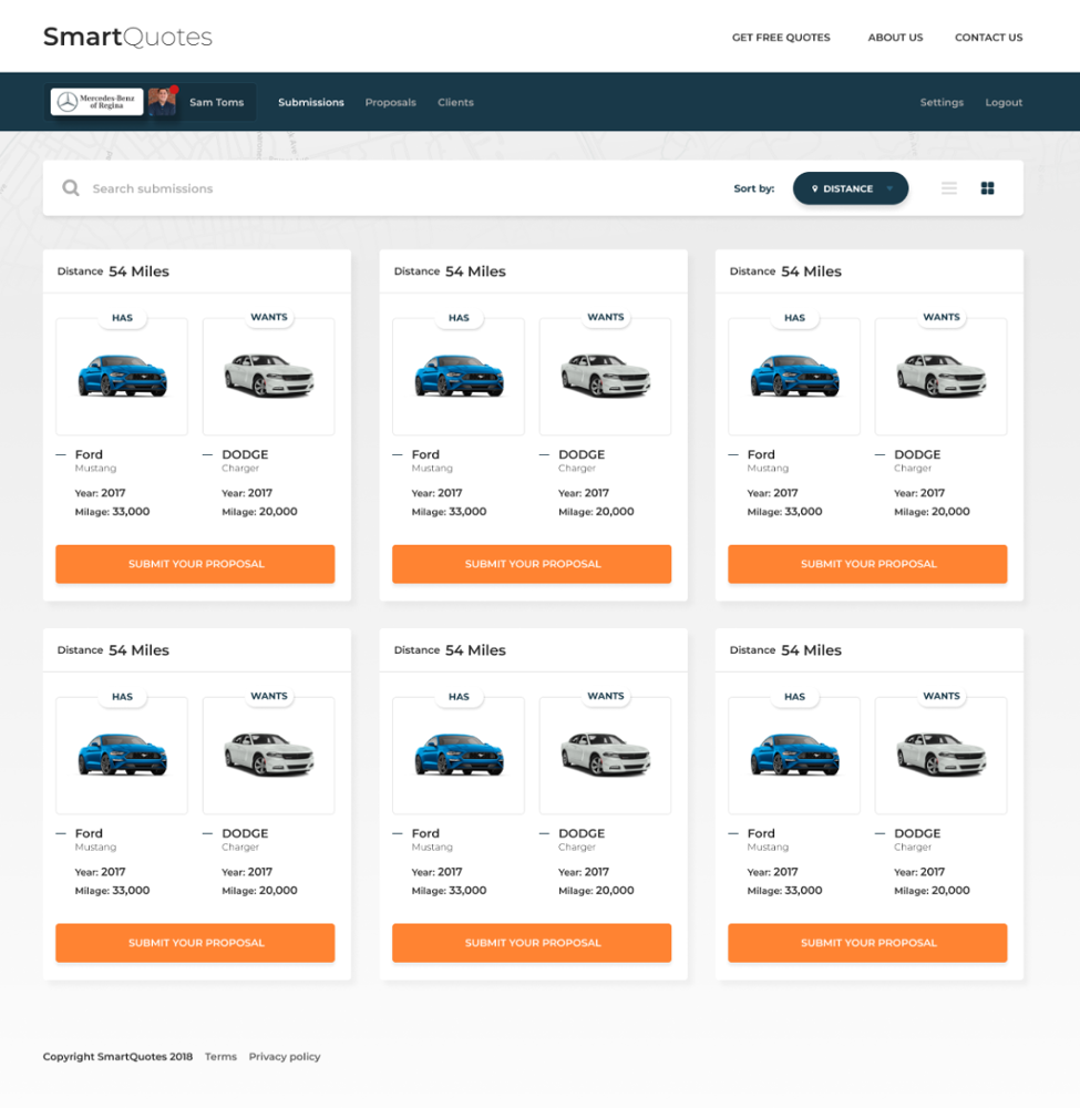 Car Selling Android App