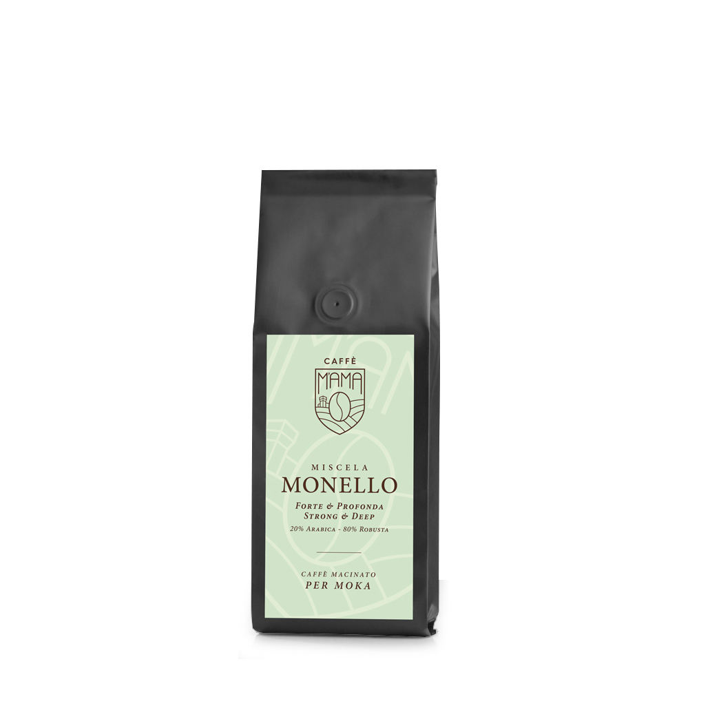 High quality Italian roasted Coffee ground 500gr Private label service Fresh stock Demand production - M'Ama Monello
