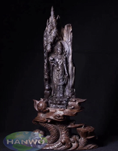 Natural Wooden Crafted Guan Yin Bodhisattva Statues/Sculpture