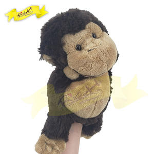 Best Selling Educational Peluche Toy Short fur Allergic-free Cute Animal Gorilla Monkey Hand Puppet Toy for kids
