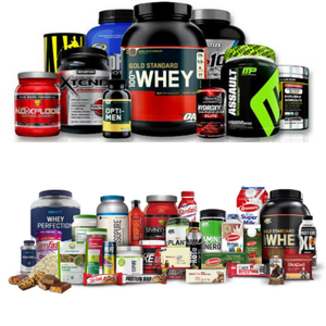 100% Whey protein of all brands Pre Workout, Post Workout, BCAA, Amino energy all gym supplements
