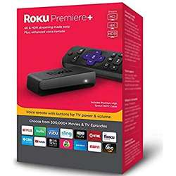 100% Free Shipping Roku 3920R Premiere 4K Ultra HD HDR Streaming Media Player buy 50 and get 20 free