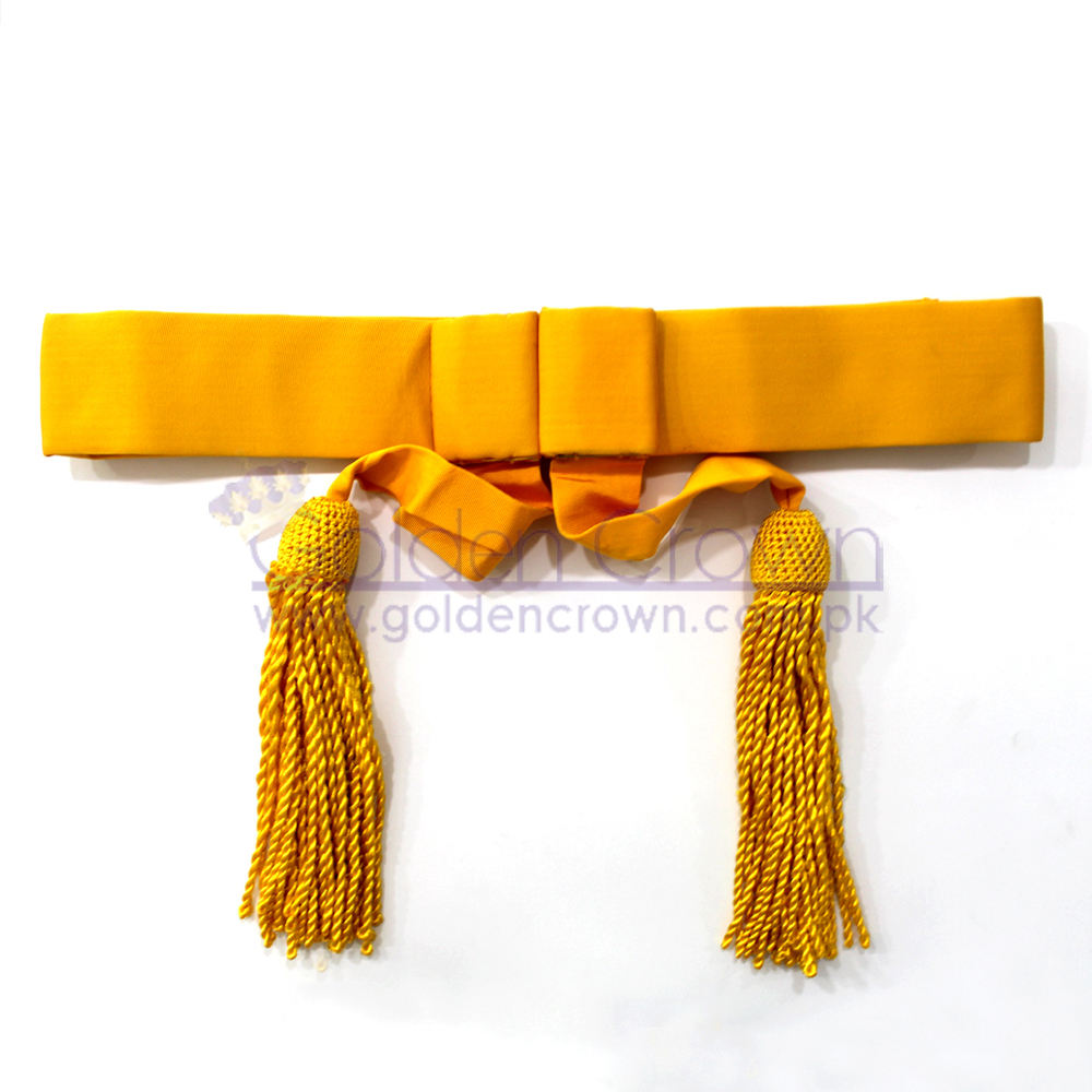 British Army Waist Sash Yellow | Ceremonial Waist Sashes | Military Uniform Waist Sash
