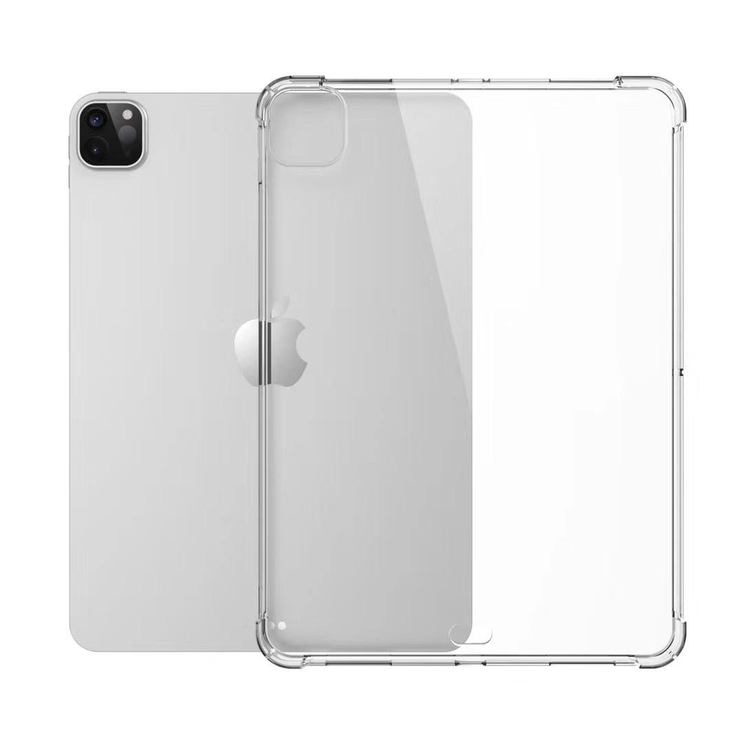 "Case For iPad Pro 12.9"" 2020 Shockproof Four Corners Drop-Resistant Flexible Soft Transparent Clear TPU Protective Shell"