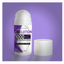 Best selling 1,000 mg CBD w/ Arnica, Menthol, and Eucalyptus Pain Relief Lotion Private label