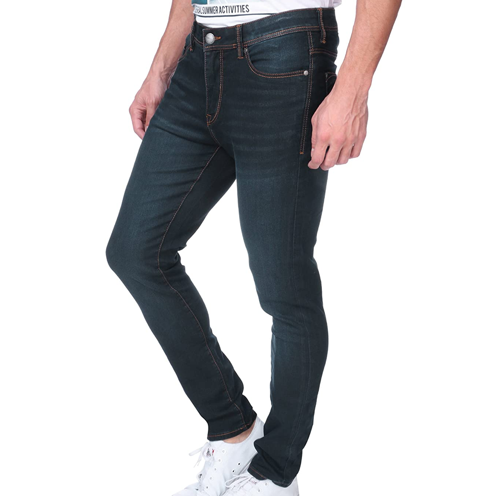 Modern Style Winter Casual Jeans Pants Super Skinny Jeans Slim Ripped Mens Jeans