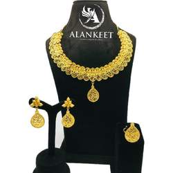 Gold Plated Sort Jewelry Necklace set