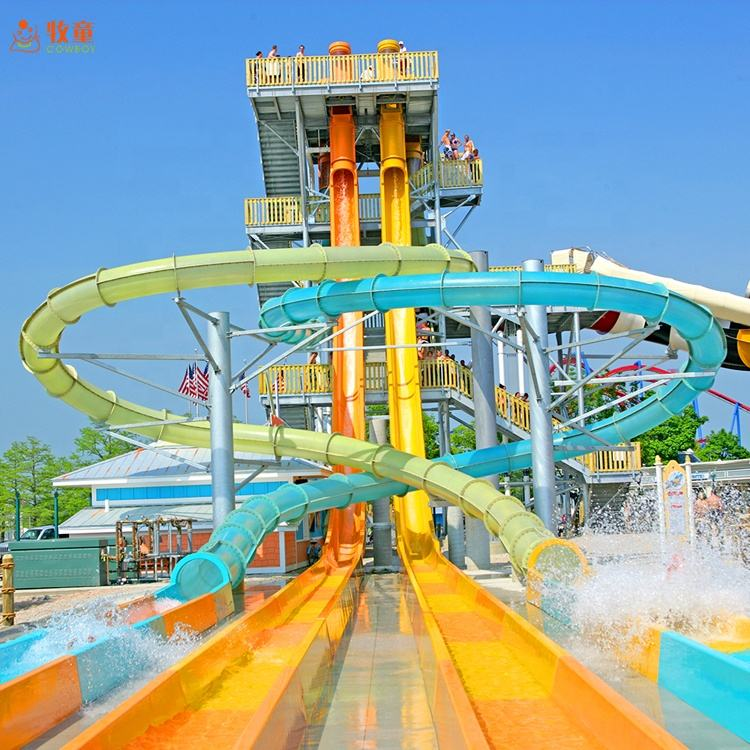 Air Slide Pipa Fiberglass Aqua Loop Air Slide Air Park Taman Bermain