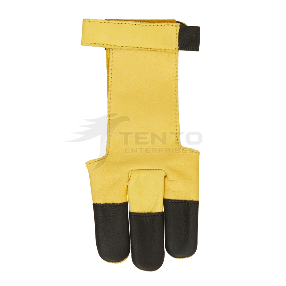 Factory Price Leather Archery 3 Finger Shooting Hunting Gloves