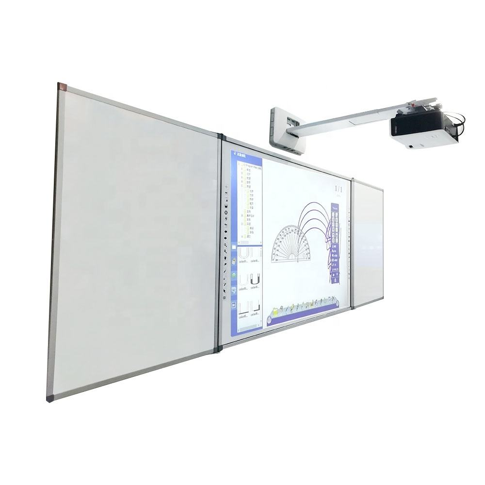 Infrared touch portable usb electronic interactive touch whiteboard with projector for teaching