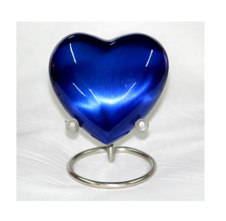 Mid Night Blue Heart Keepsake Urn for ashes