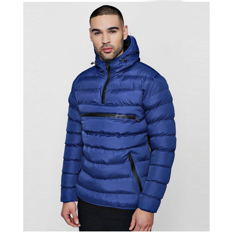 Men Women Hooded Puffer Jacket Shiny Parka Quilted Padded Coat Warm Outwear Winter Cotton Padded Jacket and Coat