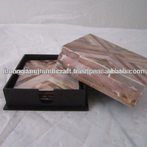 Vietnamese Handicraft Supplier Sales Mother of Pearl Cup mats with High grade and Cheap price