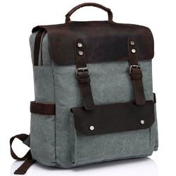Jamadagnis Group - High Quality Manufacturer of Wax Coated Cotton Canvas  Backpack Back Pack With Leather Handles