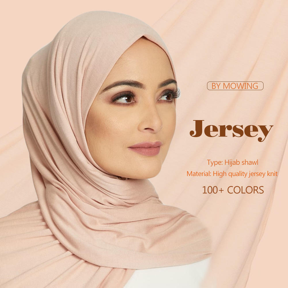 2020 Hot Selling High Quality Jersey Scarf Stretchy Hijab Plain Head Scarves Wholesale Women Stoles Jersey Cotton Hijab