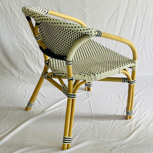 Bamboo look rattan chair with french style for bistro use