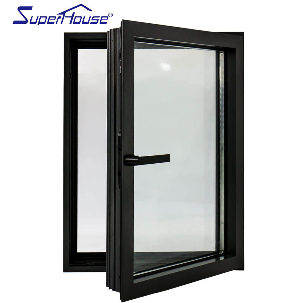 AS2047 NFRC DADE Double glass tilt and turn aluminium window