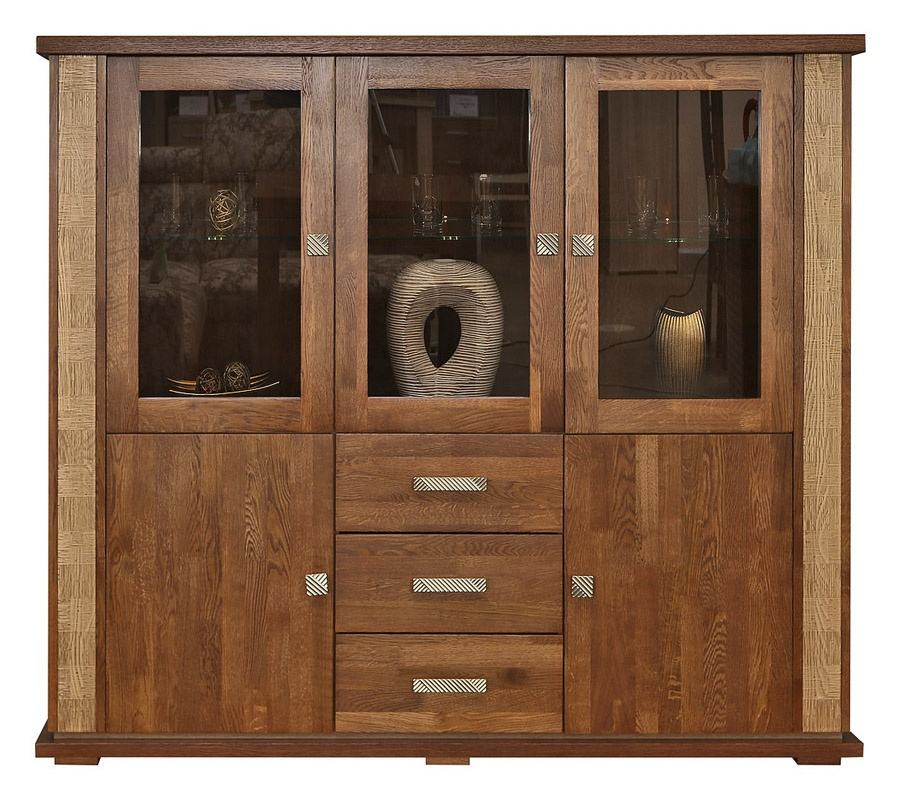 Modern Display Cabinet From Mahogany Solid Wood