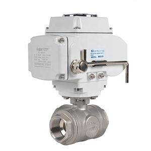 3 Phase 3 Way Stainless Steel AC 220V Electric Actuator Control Motorized Brass Ball Valve