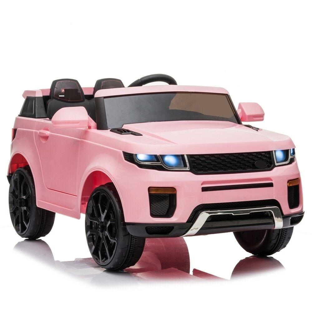 "12V Kids Ride On Car 2.4GHZ Remote Control LED Lights Red - Body Size: 42.5 ""(L)x22""(W)x21 ""(H)"