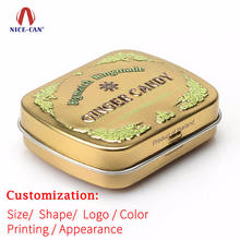 Wholesale Cheap Mini Chewing Gum Tin Can Packing Custom Printed Small Metal Gift Candy Mint Tin Box