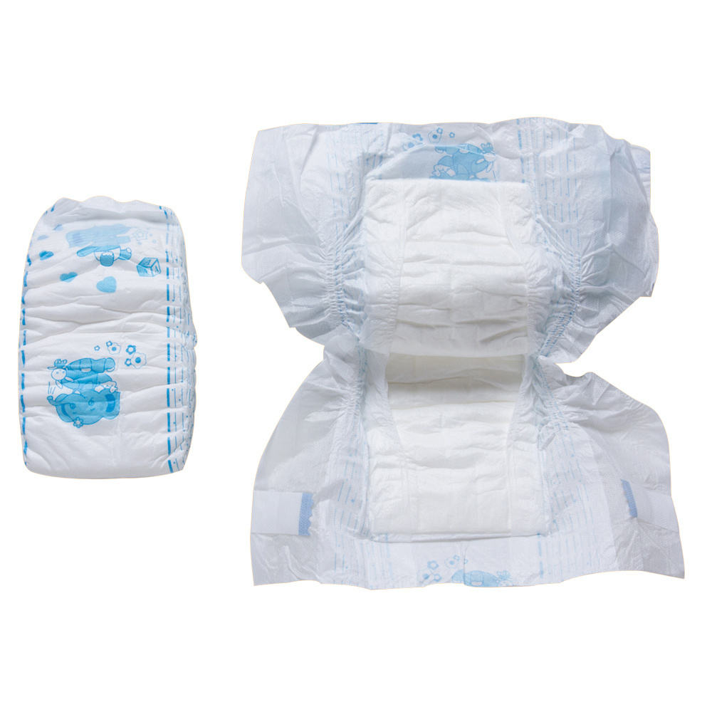 Cheap Super Soft Baby Diapers Virgin Wood Pulp
