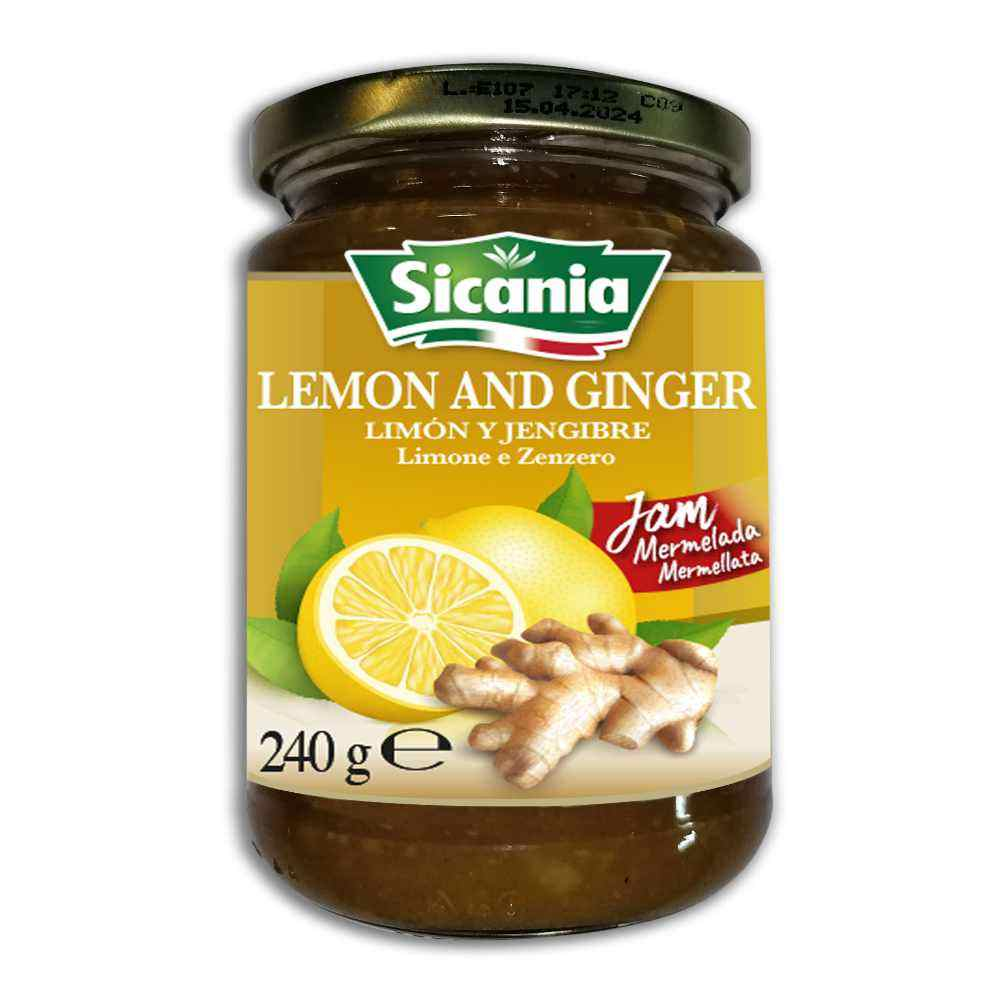 100% Natural Mixed Flavour of Sicilian Fresh Lemon and Spicy Ginger Jam