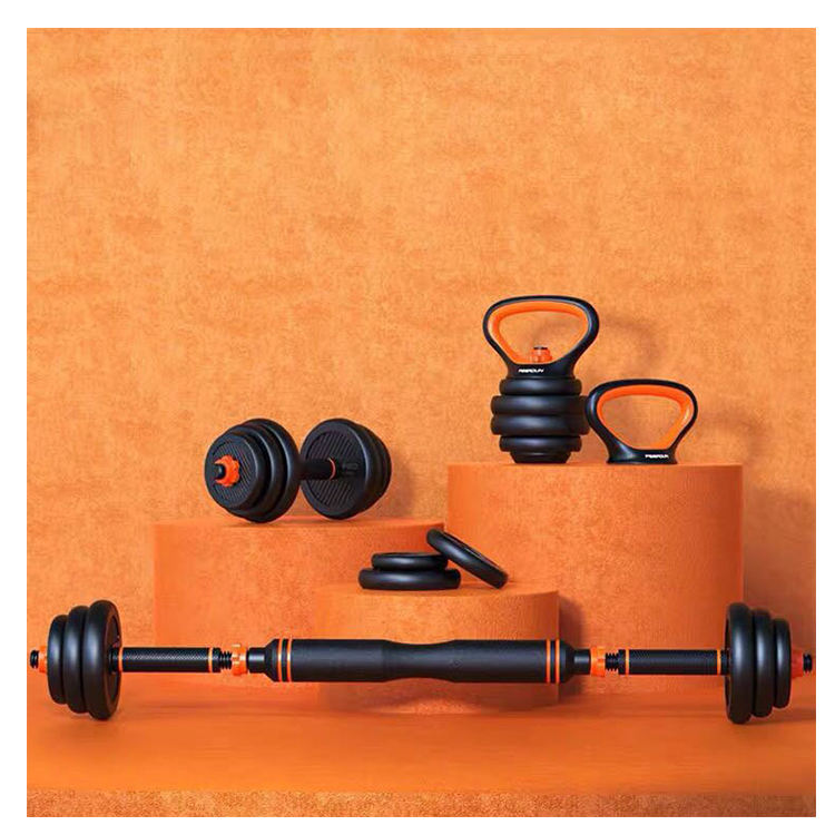 BUNNYHI YL001 6 In 1 Gym Equipment Cheap Dumbbell Sets Adjustable Kettlebell Barbell Bar Dumbbell Set