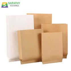 Hot Sale Kraft V bottom Bags without handle for Food Grade