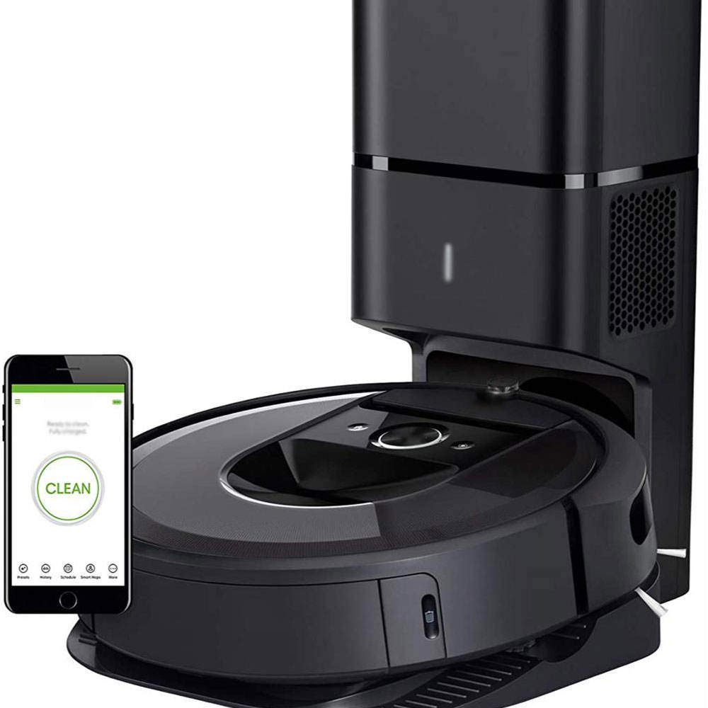 "NEW ""i-Robot_R o o m b a"" i7+ (7550) Robot Vacuum with Automatic D i r t Disposal-Empties Itself, Wi-Fi Connected, Smart"