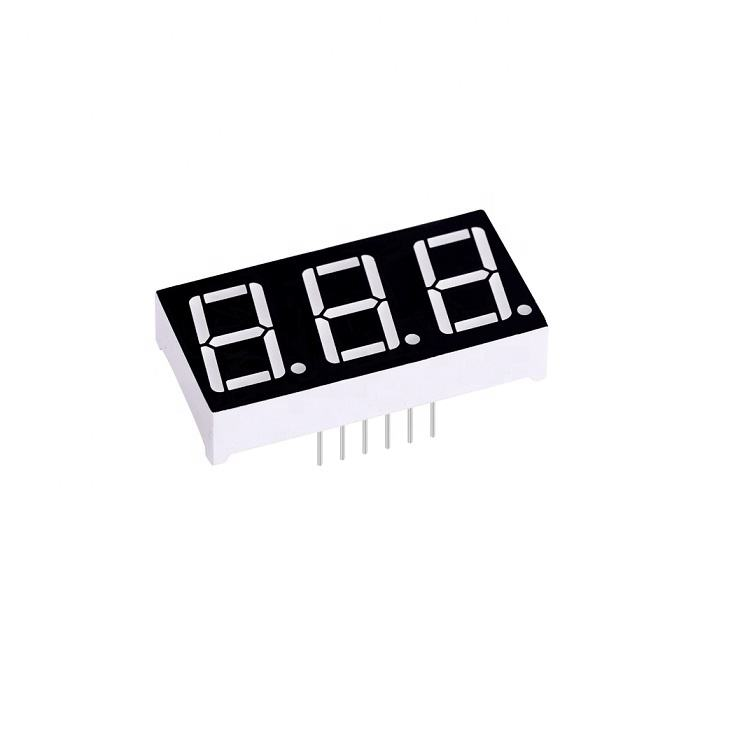 0.56 inch triple digit 7 segment common anode digital led display blue