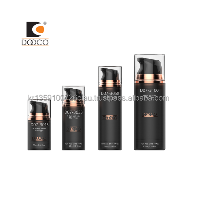 [Dooco] High Quality Korean OEM/ODM Customize 15ml 30ml 50ml 100ml Cosmetic Packaging Container Airless Pump Bottle