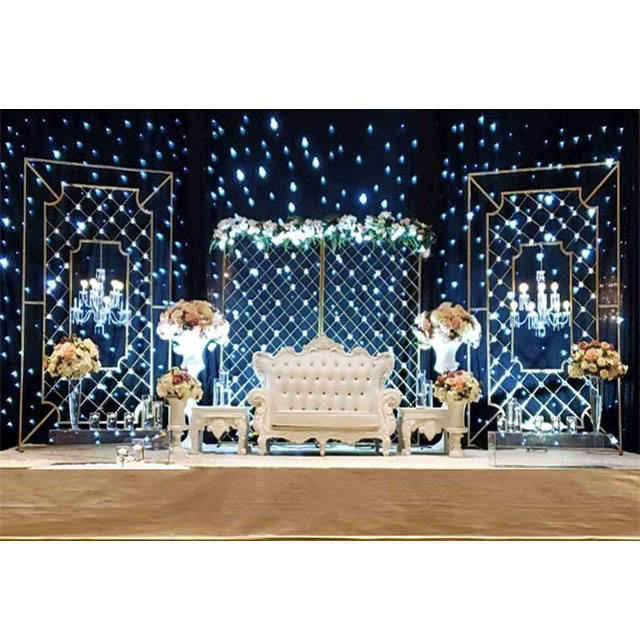 Glorious Wedding Sparkling Candle Wall Decoration New Designer Wedding Stage Candle Walls Stunning Wedding Stage Candle Walls