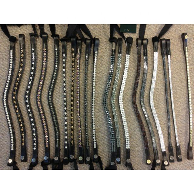 Browbands with bling for horses v shaped Browbands for horses,