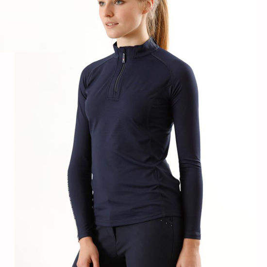 High Quality Base Layer Women Rider Equestrian Horse Riding Polo Ladies Long Sleeve Show T Shirts