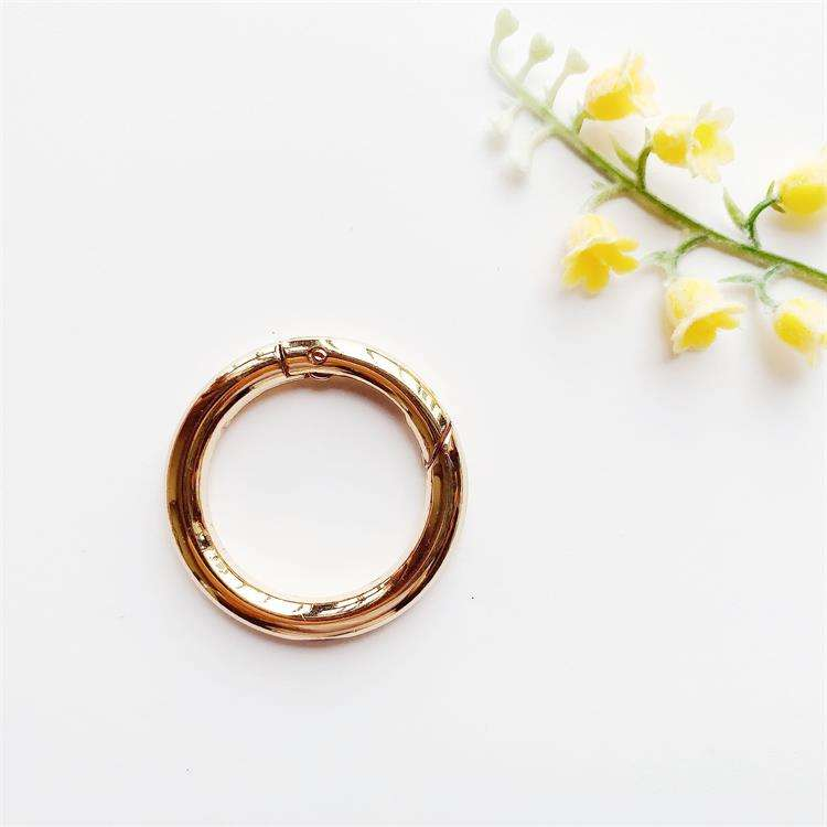 Zinc Alloy Spring Clip Gate O Ring Snap Clasp Buckle Round Carabiner 30mm