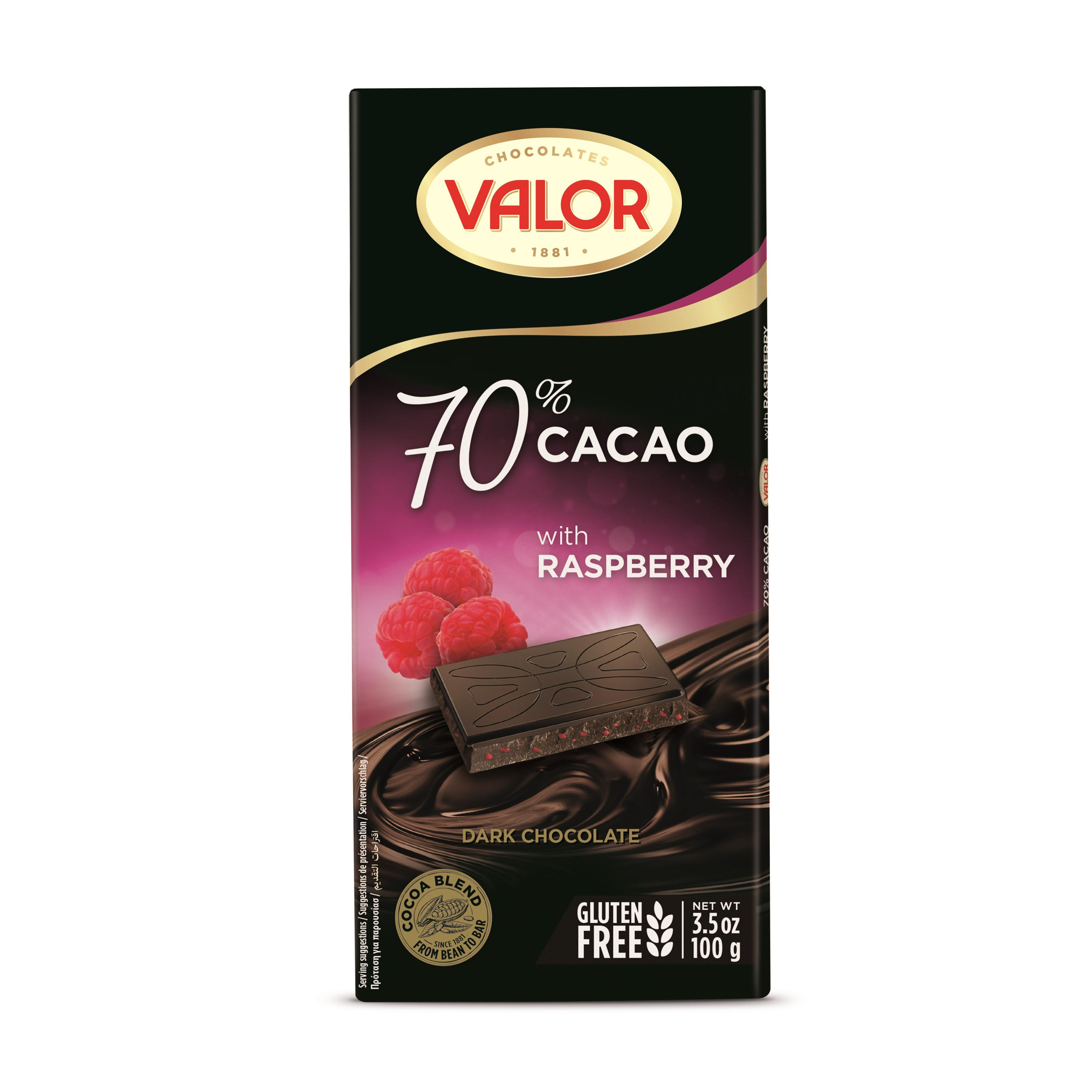 70% COCOA DARK CHOCOLATE WITH RASPBERRY