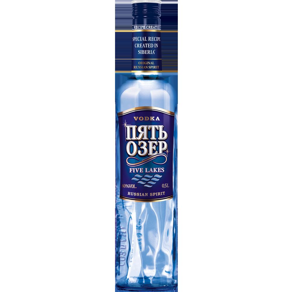 "Vodka ""Five Lakes"" 0.5 L., 40% vol."