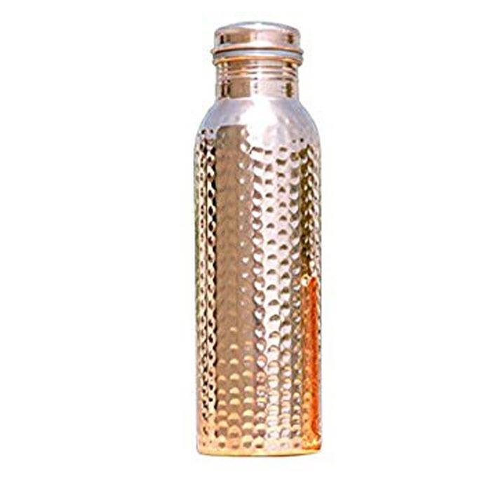 Health Care Hammered Water Bottle Pure Copper Genuine Copper Drinking Water Bottle Home Care Drinking Promotional Water Bottle