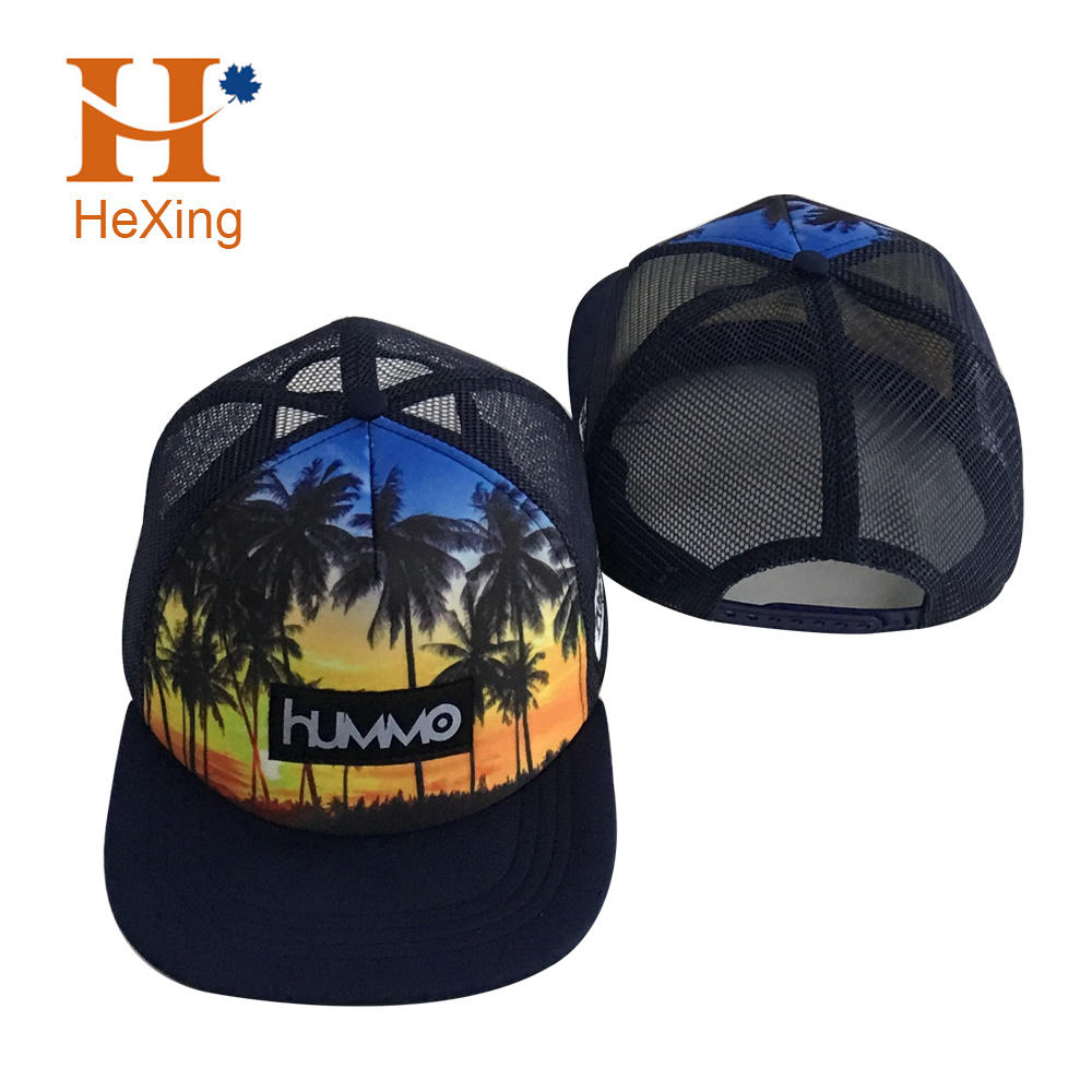 Get free sample delivery within 15 days Wholesale custom embroidery patch logo mesh snapback trucker hats